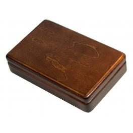 Домино в деревянной шкатулке с замшей