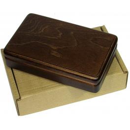 Домино профессиональное в деревянной шкатулке с замшей