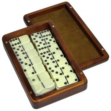 Домино турнирное в шкатулке из массива берёзы