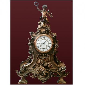 Часы из бронзы «Венок»