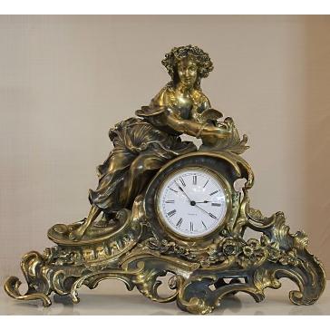 Часы из бронзы «Флора»