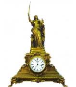 Бронзовые часы «Богиня войны и мира»