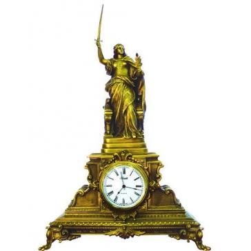 Часы из бронзы «Богиня войны и мира»