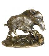 Бронзовая статуэтка «Охота на кабана»