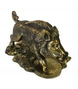Бронзовая статуэтка «Фартовый кабанчик»