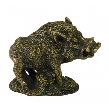 Бронзовая статуэтка «Трофейный кабанчик»