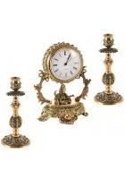 Подарочный набор. Часы и подсвечники