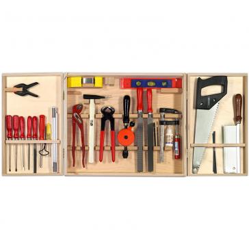 Подарочный набор мини-столярных инструментов в деревянном ящике, Pebaro, Германия.