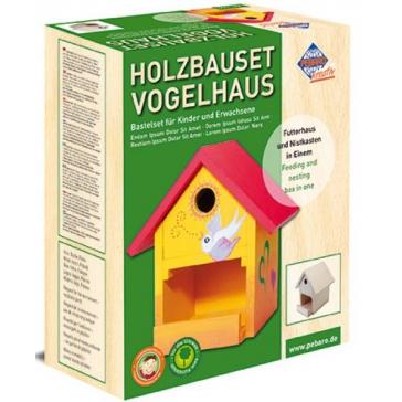 Набор для изготовления кормушки для птиц с местом для гнездования, скворечника, от Pebaro, Германия.