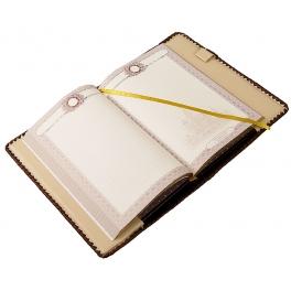 Подарочный ежедневник из кожи «Орнамент»