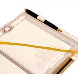 Кожаный ежедневник для мужчины «Герб РФ»
