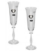 Набор из 2-х бокалов для шампанского «Сердце»