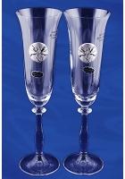Набор из 2-х бокалов для шампанского «Любовь и верность»