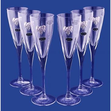 Подарочный набор из 6-ти бокалов для шампанского, хрусталь, Италия