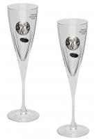 Набор из 2-х бокалов для шампанского «Свадебные»