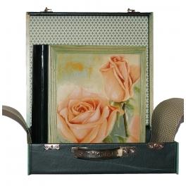 Подарочный кожаный фотоальбом «Розы»