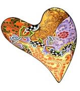 Блюдо большое «Золотое сердце»
