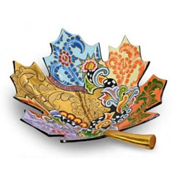 Блюдо большое «Кленовый лист»