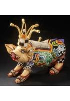 Статуэтка-шкатулка свинка