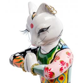 Статуэтка кошка-йога «Садху»