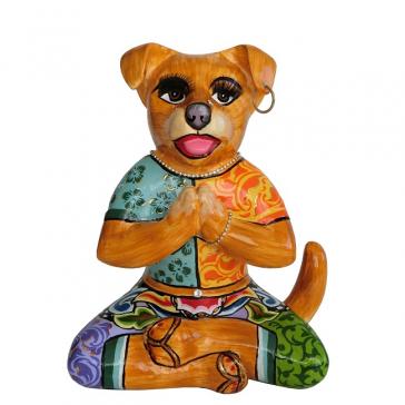 Статуэтка большая собака-йога «Риши» из коллекции Томаса Хоффмана