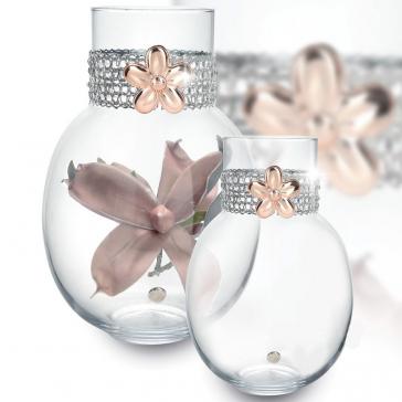 Красивая ваза для цветов «Венера» с посеребренным декором