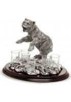 Набор рюмок для водки «Медведь» на подтавке
