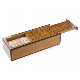Подарочное домино в деревянном футляре
