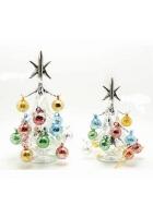Статуэтка «Серебряная елка с разноцветными шарами»