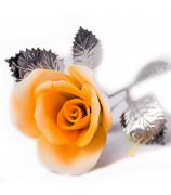 Фарфоровый цветок «Желтая роза»