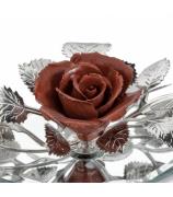 Фарфоровый цветок «Роза бордовая»