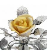 Фарфоровый цветок «Роза желтая»