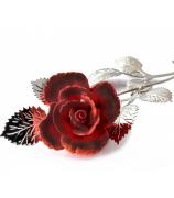Фарфоровый цветок «Бордовая роза»
