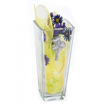 Ваза для цветов «Каллы» с посеребренным декором