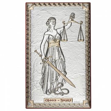 Посеребренная миниатюра «Фемида», 10х16 см