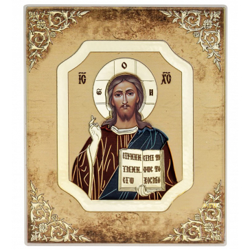 Подарочная икона ручной работы «Господь Вседержитель», 8х10 см