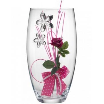 Подарочная ваза для цветов «Малиновый букет»