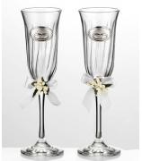 Два бокала для шампанского «На счастье!»