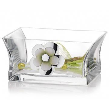 Прямоугольная вазочка для конфет «Альба», 19х13х9 см