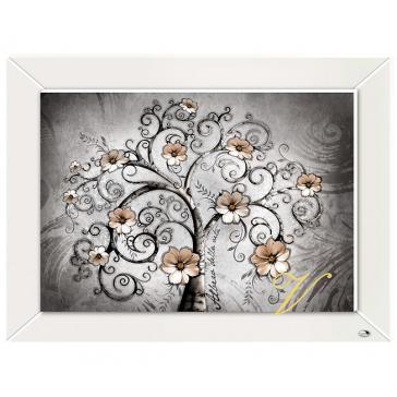 Интерьерная картина с посеребрением «Дерево жизни», 60х45 см