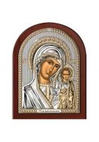 Казанская икона Божией Матери, посеребренная