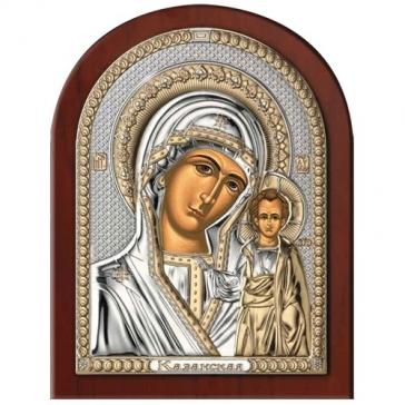 Посеребренная икона Божией Матери Казанская