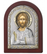 Икона «Господь Вседержитель», посеребренна