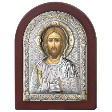 Подарочная посеребренная икона «Господь Вседержитель»