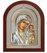 Казанская икона, посеребренная