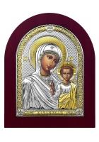 Икона «Казанская Божия Матерь», посеребренная