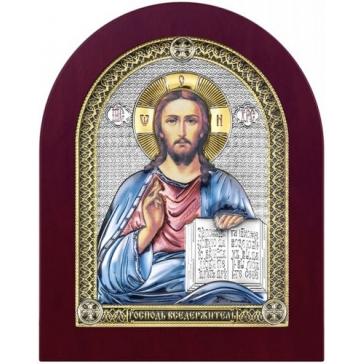 Посеребрённая икона «Господь Вседержитель»