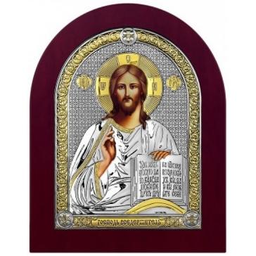 Посеребренная икона «Господь Вседержитель»