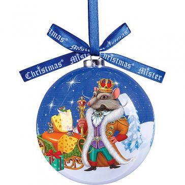 Ёлочный шар из папье-маше «Король Мышей»