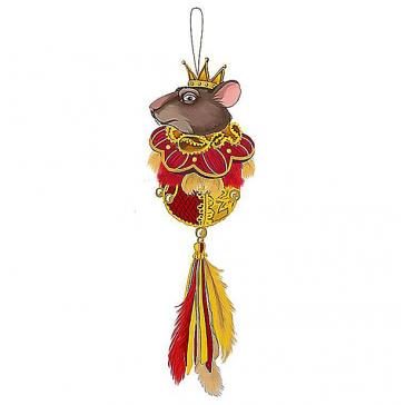 Новогоднее украшение из текстиля «Мышиный король», ручная работа